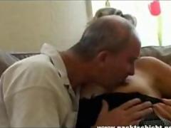 Older couple fucking on the couch