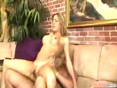 Blonde Tranny Takes a Big Cock