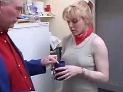 Old man fuck young chick and her girlfriend