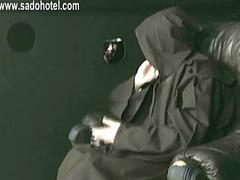 Naughty nun confesses to priest and got spanked on her hands with a wooden stick