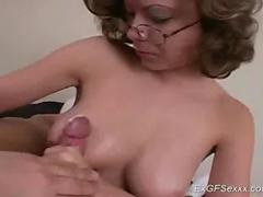 My ex girlfriend does handjob movie