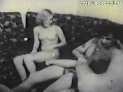 Amateur Porn from 1959 ( FFM trio )
