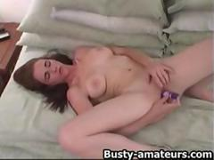 Busty Holly playing her hot pussy with dildo