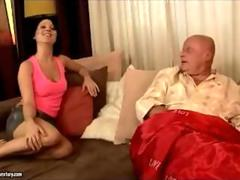 Old man seduced in bed pt 1