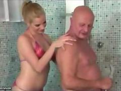 Teen and old man in bathroom pt 1