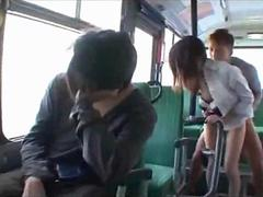 Office lady in shirt getting her pusssy fucked facial on the bus feature