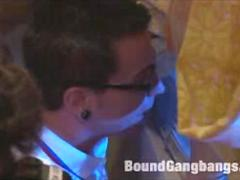 Group BDSM Gang Bang Humiliation and Torments of Slaves in Bondage