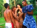 Hot teen babes in hardcore group action clip 2