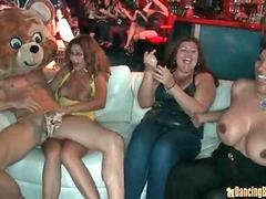 Blonde Cougar gets a Facial from the Stripper