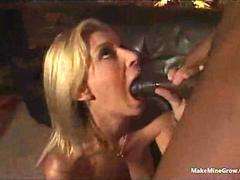 Hot Blonde know how to please a BBC