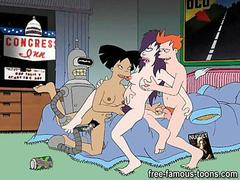 Famous toons group sex