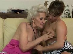 Granny has hot sex with young girl