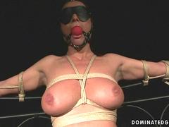 Busty slavegirl getting painfully punished