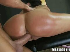 Horny Asian Sucks and Fucks on the Massage Table