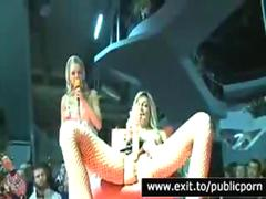 Public Squirting orgasm on Stage