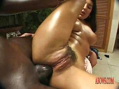 milf with hairy pussy have anal sex with black man