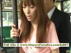 Rio asian teen babe getting her hairy pussy fondled on the bus segment 2
