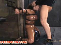 Maledom BDSM  Bonded Mouth Deep Fuck and Torture