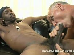 Old Guy Gets Fucked By a Massive Black Cock