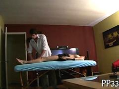 Delightful massage and groping on hidden cam