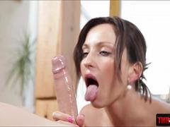 Enticing Simona Style gets throat rammed deep in her neck