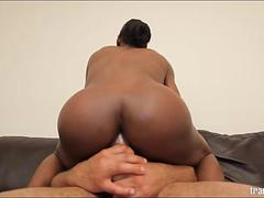 Black Shemale Natalia Cox Takes Castros Huge Dick Deep