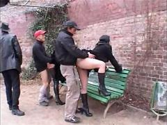 German Public sex on the bench