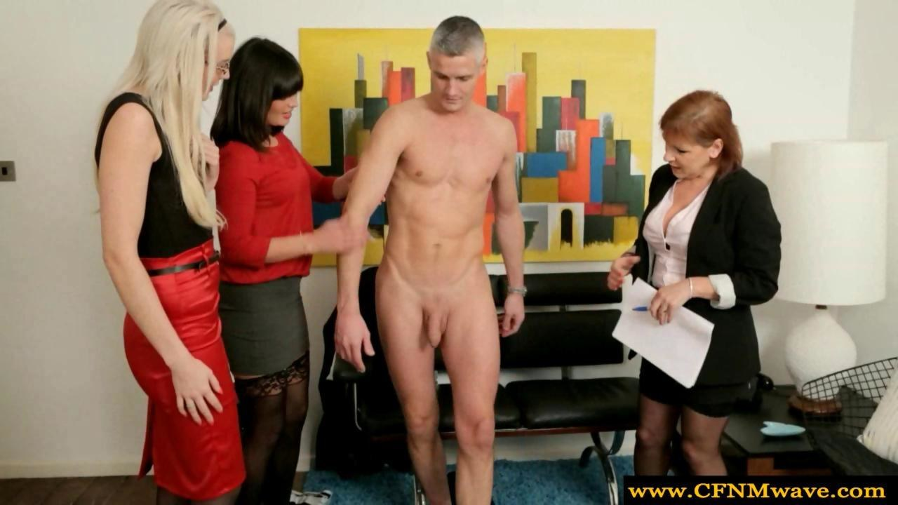 Cfnm Milf Group Feel Up A Naked Guy On Gotporn
