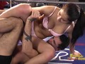 Boxer dominates her man in the ring