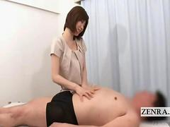 Subtitled Japanese femdom domination with lewd footjob