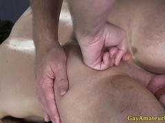 Gaystraight amateur jock gets ass fingered and massaged
