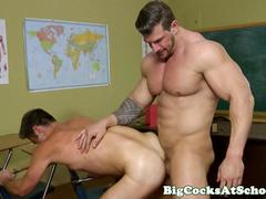 Hunky gay Hercules drilling his boyfriends tight ass