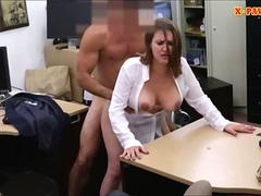Foxy huge boobs business woman screwed for money