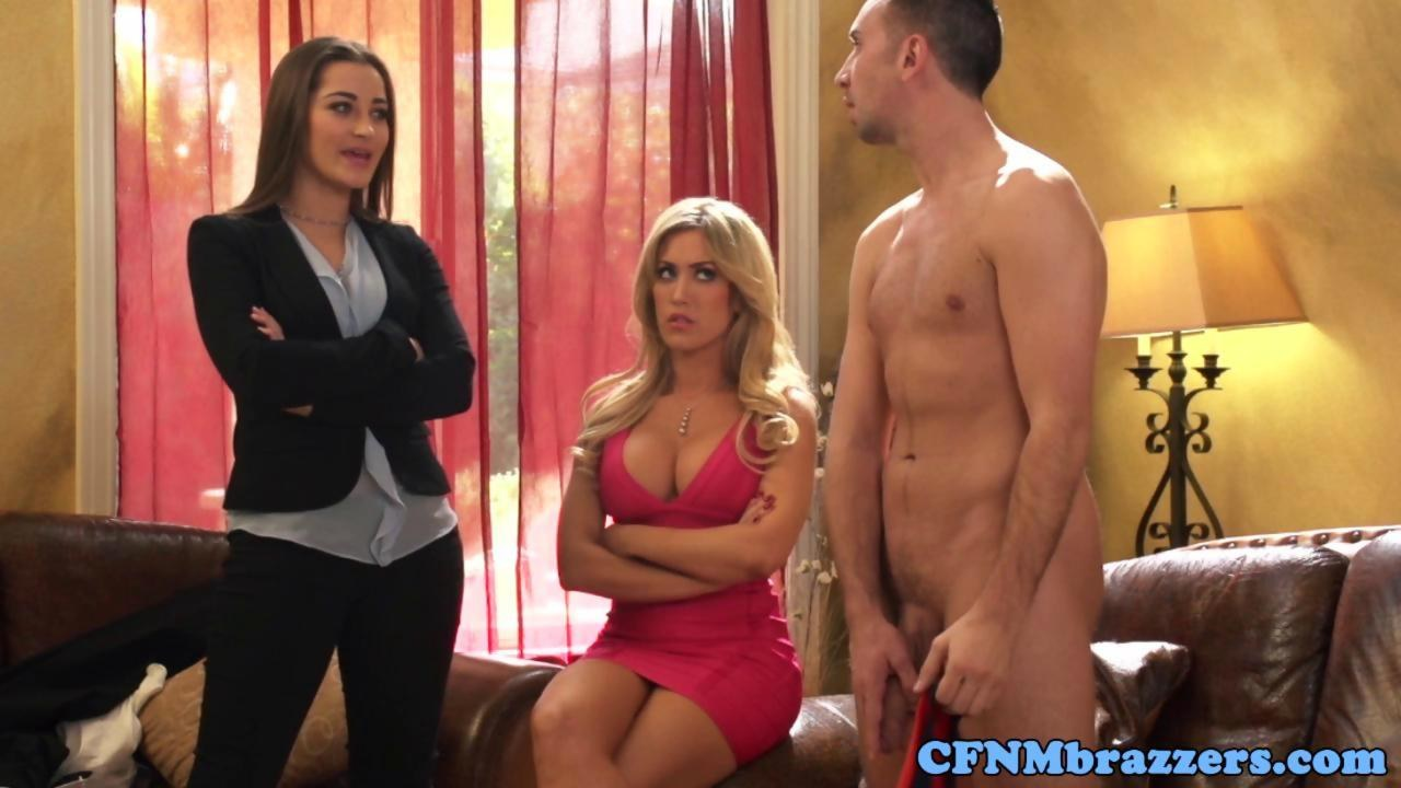 image Bigtitted stepmom cockriding in taboo trio