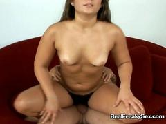 Jungle girl rides Tarzan with the hairiest pussy ever