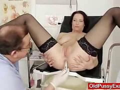 Natural boobies Mature Sabrina has a nasty gynecologist appointment
