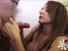Horny condom vendor slut lets guy bare back her