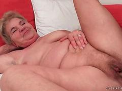 Young man fucking chubby granny