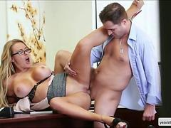 Corinna gets fucked in reverse cowgirl