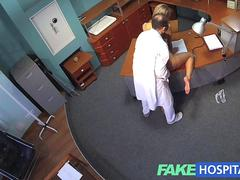 FakeHospital Horny sexy blonde patient raises the temperature in the reception