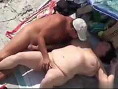 hot bbw fat lady gets to be fucked on the beach