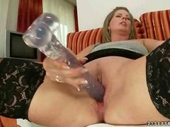 Horny granny loves her young girlfriend