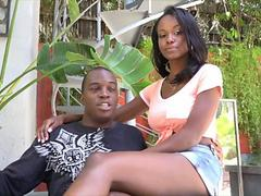 black couple has a good fucking session to try
