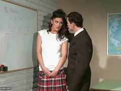 Hot schoolgirl getting punished and fucked