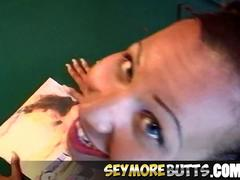 Busty Latina Squirts While Getting Anal