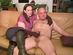 BBW Mistress in gloves