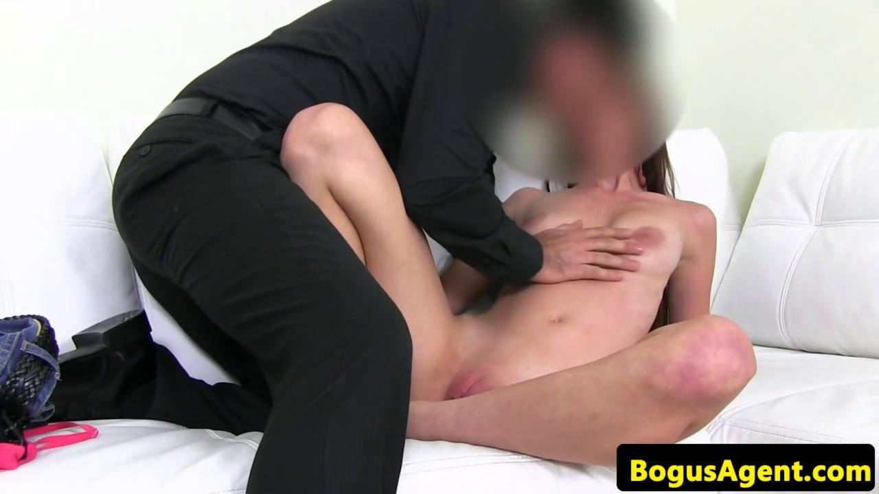 Real casted amateur sucking before fucking