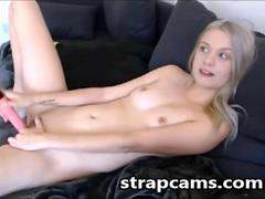 Cute Blonde Teen Webcam Toying