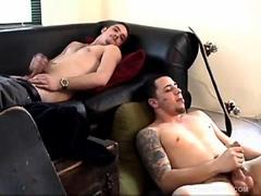 Young Bradley and Ryan Jerk Off