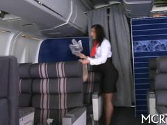 Eating out the stewardess with a juicy big ass